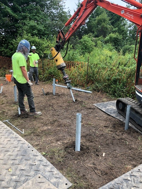 Installation of Our Helical Pile Design