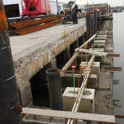 Formwork Design for the new 10 ft wide reinforced concrete crane rail beam at Port of Wilmington